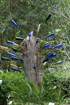 not a plant but pretty way to dress up a tree stump !
