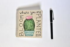 Hand-Bound Journal // Succulent // Bloom Where by PeelsandPosies
