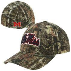 half off 08520 501ed Zephyr Mississippi Rebels Full Draw Z-Fit Hat - Mossy Oak Camo