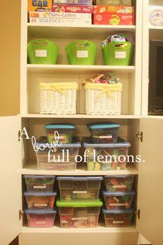 Organize kids playroom