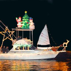 40 best Christmas Boats images on Pinterest | Christmas fairy lights ...