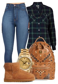 """Backk."" by mindlesspolyvore ❤ liked on Polyvore featuring Quiksilver, MCM, Rolex, UGG Australia and Sterling Essentials"