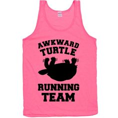 Awkward Turtle Running Team. Are you as good at running as you are at social interaction? Get a laugh out of your friends with this athletic inspired Awkward Turtle Running Team design.