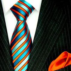 Wow. If only it wasn't so expensive.    8442801 LORENZO CANA Luxury Neck Tie and Hanky Set Silk Aqua Blue Orange Stripe  I have it!