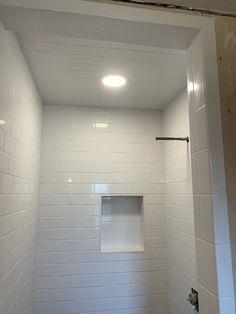 Bathroom Recessed Lighting, Vanity Lighting, Shower Recess, Pot Lights, Light Installation, Home Improvement, Mirror, House, Furniture