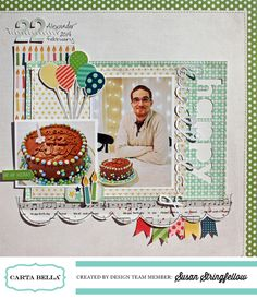 Happy Birthday by Susan Stringfellow #cartabellapaper