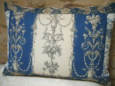 toile designs | ANTIQUE FRENCH PILLOW antique french fabric by vintagefrenchstyle