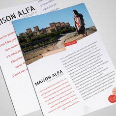 Papeterie • Communique de presse pour Alfa
