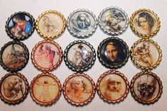 Geocache Coin Bottle Caps For Swag Trade Items - Leonardo DaVinci Set