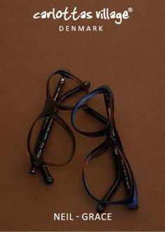 GRACE & NEIL - cognac, blue acetate. #SS2015 #cool #blue #brown #eyewear