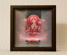 """3D Tara Goddess Lightbox-Dot Gate"" (2014) Three layers of acrylic art in black…"