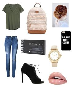 """College student outfit 🤑"" by kaylapagan1003 on Polyvore featuring Gap, Yves Saint Laurent, Rip Curl, Rodial and Chico's"