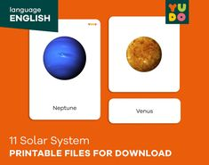 Montessori 3-part Cards about the solar system with two | Etsy Picture Cards, Solar System, Finding Yourself, Etsy, Montessori Activities, Trading Cards, Pictorial Maps, Solar System Crafts, Planetary System