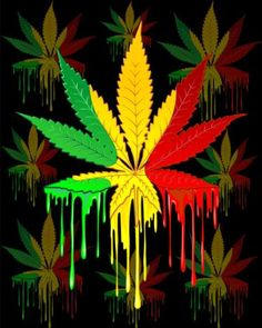 Marijuana Leaf Rasta Colors Dripping Paint New Media by BluedarkArt Lem Marijuana Wallpaper, Trippy Wallpaper, Marijuana Art, Marijuana Leaves, Bob Marley Art, Reggae Art, Rasta Art, Afrique Art, Rasta Colors