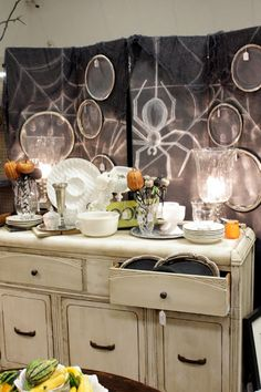 Sweet Something Designs: 31 Days With ME: Fall At The Booth; bi-fold doors as backdrop