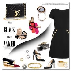"""Black dress! TOP SET  FASHION 03/01/2017!"" by tatajrj ❤ liked on Polyvore featuring Boutique Moschino, Jimmy Choo, Givenchy, Odeme, Yves Saint Laurent, Armani Privé, Chanel, D&G and blackdress"