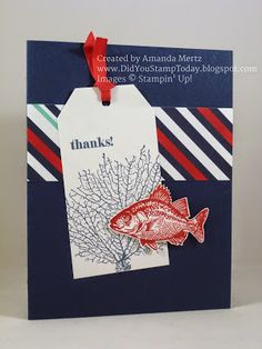 Stampin' Up! By The Tide Nautical Thank You