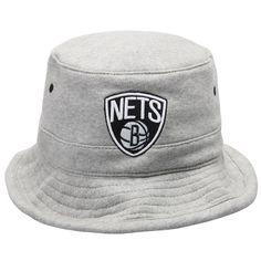 wholesale dealer b9827 b495c Men s Brooklyn Nets Mitchell   Ness Gray Logo Fleece Bucket Hat, Sale    15.99 - You Save   16.00