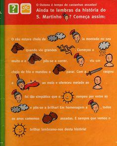 beebgondomar: S. Martinho para os mais novos                                                                                                                                                     Mais Projects For Kids, Preschool Activities, Halloween, Education, Books, Diy, Crafts, Autumn Activities, Physical Education Games