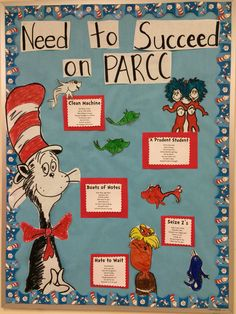 Dr. Seuss test tasking bulletin board!