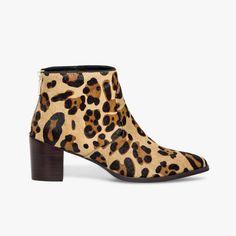 Boots léopard façon poil de poulain mélody bocage