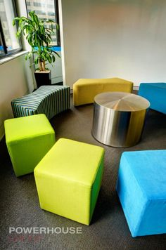 Office Fit Out, Breakout, Ottomans, Collaboration Space