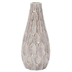 Living & Co Ceramic Vase 22cm Grey