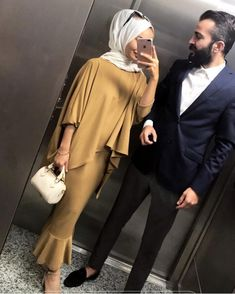 likes, 10 Comments - 💎Hijab Muslim Couples💎 (Muslim Mus . Muslim Dress, Hijab Dress, Hijab Outfit, Eid Outfits, Couple Outfits, Fashion Outfits, Muslim Women Fashion, Islamic Fashion, Abaya Fashion
