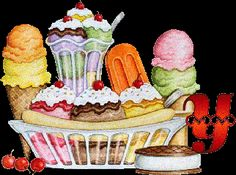 Alfabeto selección de helados. | Oh my Alfabetos!