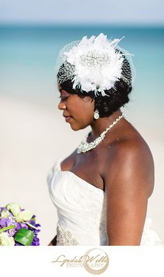 Bridal headpiece, veil, #bahamas #wedding