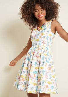Pleasant Temperament Cotton A-Line Dress in XXS - Sleeveless Fit & Flare Knee Length by ModCloth Day Dresses, Casual Dresses, Dresses For Work, Work Outfits, Teacher Dresses, Teacher Outfits, Best Summer Dresses, Yes To The Dress, Unique Dresses