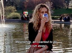 Black and White life text quotes true b&w run away sex and the city satc carrie bradshaw sarah jessica parker carrie SJP carrie bradshaw quotes Movie Lines, Mood Quotes, Life Quotes, Humor, Carry On, Tv Shows, Feelings, Sayings, Thoughts