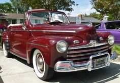 1945 Ford Super Deluxe convertible.  Photography by David E, Nelson, 2016