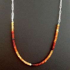 Fire Opals Necklace from Silver Continent Fine Jewelry  #silvercontinent