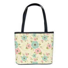 "Nostalgic flowers Bucket Bag Beige seamless vintage pattern ""Nostalgic flowers""  $83.19"