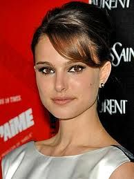 Natalie Portman. I love this look-simple yet tres chic! Her make up is natural and her hair up do is very elegant a la Audrey Hepburn