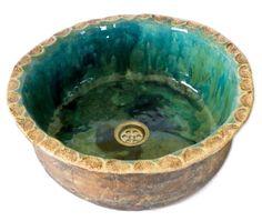 Dobrawa - artystyczna umywalka nablatowa z koronką - KoloryMeksyku - Umywalki i wanny