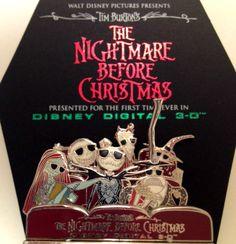 Disney Soda Fountain DSF Store Nightmare Before Christmas 3D Pin RARE LE 500 Pin