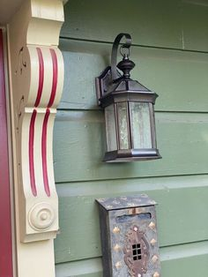 One of the easiest ways to perk up the exterior of your home is to freshen up your exterior light fixtures. The sun and weather can fade or oxidize your lights. Diy Vanity Lights, Diy Mirror, Exterior Light Fixtures, Exterior Lighting, Electrical Fixtures, Front Porch Steps, Old Washing Machine, Paint Stir Sticks, Chair Planter