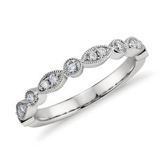 Small Full Eternity Ring Marquise Art Deco Round Wedding Band