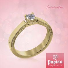El anillo ideal para el amor de tu vida lo encuentras en #JoyeriaPapidu. #rings #Jewelry #SayYes #engagement #gold #novia #PapiduCompromiso #weddingwednesday #brides #diamonds #weddingday #love #bridetobe #couple