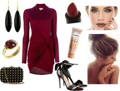 """""""Red Carpet Worthy in Bordeaux"""" by aleach3 on Polyvore"""