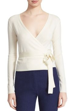 Free shipping and returns on Diane von Furstenberg 'Ballerina' Wrap Sweater at Nordstrom.com. A stretchy, cashmere-softened silk blend is tailored into an ultrachic summer-weight sweater designed in Diane von Furstenberg's signature wrap style.