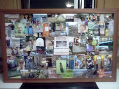 a trip to india captured in a collage (scrap molding used in framing FREE)