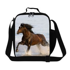 Lunch Organizer Crazy Horse 3D Print Kids Lunch Bag Animal Small Lunch Box For Men Insulated Picnic Food Bags Lancheira Termica