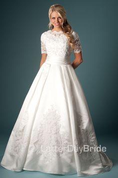 Modest Wedding Dress, Brunetta | LatterDayBride & Prom