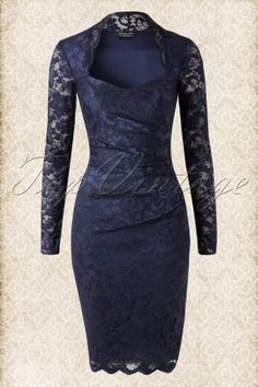 Vintage Chic Lace Dress Navy 100 31 1480820150128 0101jpg