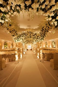 An aisle of breathtaking blooms at @Bevvvvverly Wilshire (A Four Seasons Hotel).