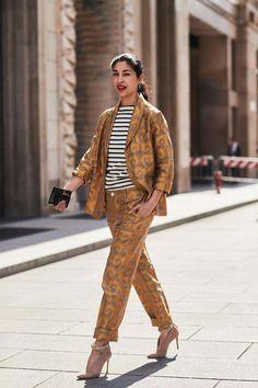 Milan Fashion Week Street Style via Printemps Street Style, Milan Fashion Week Street Style, Street Style Trends, Street Style Summer, Milan Fashion Weeks, Cool Street Fashion, Street Style Looks, Street Style Women, Sophisticated Outfits