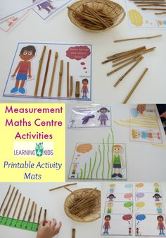 Some ideas for measurement maths centre activities with printable activity mats pin now, explore later. Numeracy Activities, Measurement Activities, Math Measurement, Activity Centers, Kindergarten Activities, Math Games, Math Centers, Group Activities, Leadership Activities